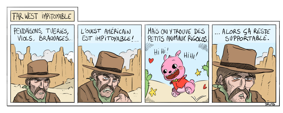Dessin, BD : Far West impitoyable