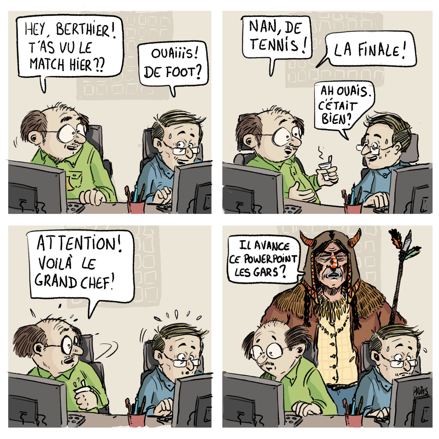 Dessin, BD : Le grand chef